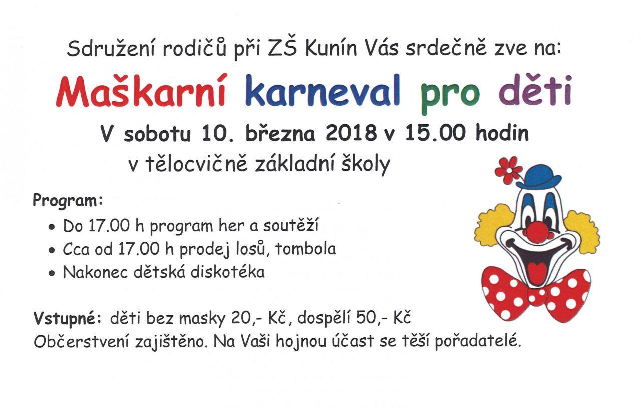 Maškarní karneval pro děti 1